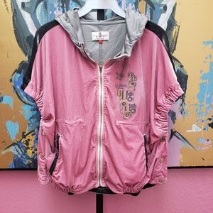 Only 4 Stylish Girls Side Snap Velour Hoodie